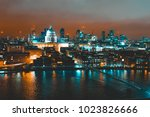thames river with st pauls... | Shutterstock . vector #1023826666