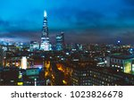 the shard with london cityscape ... | Shutterstock . vector #1023826678