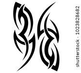 tattoo tribal design  vector... | Shutterstock .eps vector #1023828682