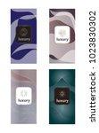 luxury packaging design set... | Shutterstock .eps vector #1023830302