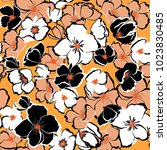 summer fresh floral seamless... | Shutterstock .eps vector #1023830485