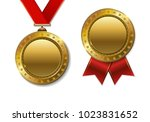 set of realistic 3d champion... | Shutterstock .eps vector #1023831652