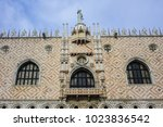 architectural fragment of doge... | Shutterstock . vector #1023836542