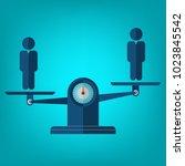team balance. human resources... | Shutterstock .eps vector #1023845542