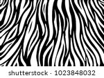 zebra print  animal skin  tiger ... | Shutterstock .eps vector #1023848032