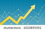 stock market diagram | Shutterstock .eps vector #1023855352