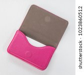 pink leather card holders and... | Shutterstock . vector #1023860512