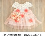 clothes from tulle. dress for a ... | Shutterstock . vector #1023863146