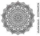 black and white mandala vector... | Shutterstock .eps vector #1023866926