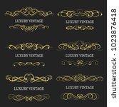 gold decorative frame.vintage... | Shutterstock .eps vector #1023876418