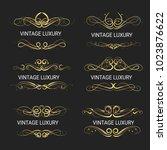 gold decorative frame.vintage...   Shutterstock .eps vector #1023876622