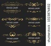 gold decorative frame.vintage... | Shutterstock .eps vector #1023876832