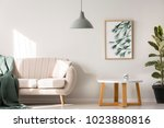 simple poster hanging on the... | Shutterstock . vector #1023880816