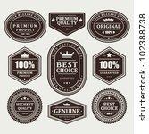 vintage labels set. vector... | Shutterstock .eps vector #102388738