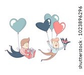 happy valentine's day greeting... | Shutterstock . vector #1023896296