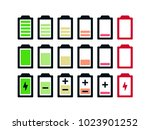 battery icon set .set of... | Shutterstock .eps vector #1023901252