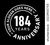 184 years anniversary logo... | Shutterstock .eps vector #1023905755
