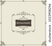 invitation frame. vintage... | Shutterstock .eps vector #1023908296