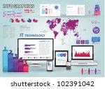 modern infographics set and...