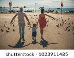 family  parenthood  adoption... | Shutterstock . vector #1023911485