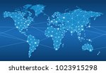 seamless map of the global... | Shutterstock .eps vector #1023915298
