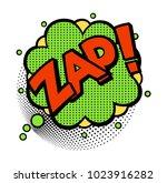 zap  word in speech bubble... | Shutterstock .eps vector #1023916282