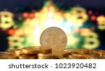 bitcoin symbol. crypto currency ... | Shutterstock . vector #1023920482