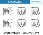 calendar icons. professional ... | Shutterstock .eps vector #1023920596