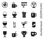 solid black vector icon set  ... | Shutterstock .eps vector #1023921442