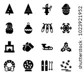 solid vector icon set  ... | Shutterstock .eps vector #1023921952