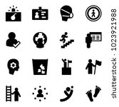 solid vector icon set  ... | Shutterstock .eps vector #1023921988
