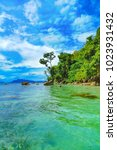 the coast of the island of... | Shutterstock . vector #1023931432
