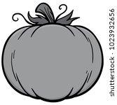 fall pumpkin icon illustration  ... | Shutterstock .eps vector #1023932656