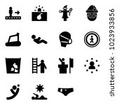 solid vector icon set  ... | Shutterstock .eps vector #1023933856