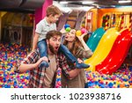 image of happy little child... | Shutterstock . vector #1023938716