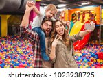 image of cheerful little child...   Shutterstock . vector #1023938725