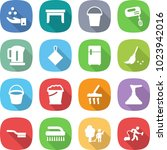 flat vector icon set   chemical ... | Shutterstock .eps vector #1023942016