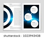 abstract vector layout... | Shutterstock .eps vector #1023943438