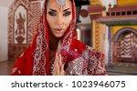 beautiful young indian woman in ...   Shutterstock . vector #1023946075