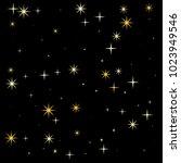 night stars pattern vector... | Shutterstock .eps vector #1023949546