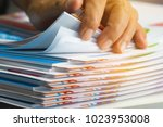 businessman hands searching... | Shutterstock . vector #1023953008