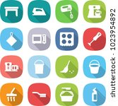 flat vector icon set   table... | Shutterstock .eps vector #1023954892