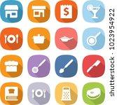 flat vector icon set   shop...   Shutterstock .eps vector #1023954922