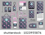 corporate identity template set.... | Shutterstock .eps vector #1023955876