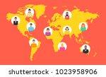 gears teamwork concept.... | Shutterstock .eps vector #1023958906