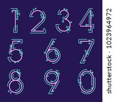 element  set of ten numbers... | Shutterstock .eps vector #1023964972