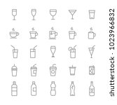 cup and drink outline icons set ... | Shutterstock .eps vector #1023966832