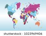 political world map | Shutterstock .eps vector #1023969406