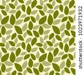 green leaves seamless pattern.... | Shutterstock .eps vector #1023971932