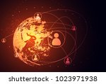 abstract technology concept... | Shutterstock .eps vector #1023971938